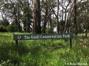 The Knoll Conservation Park - sign